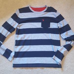 Abercombie kids striped long sleeve tee sz 15/16